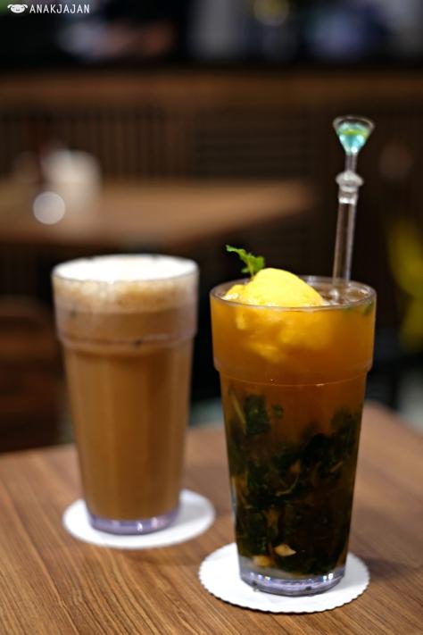 Thai Coffee IDR 19.5k // Orange Grandma Ice Tea IDR 29.5k