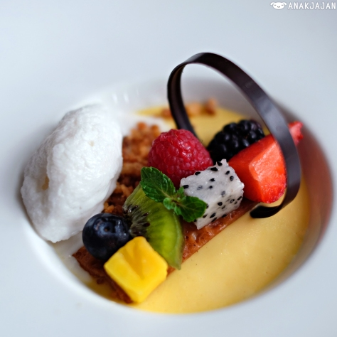 Mango Mousse with Coconut Sorbet IDR 55k