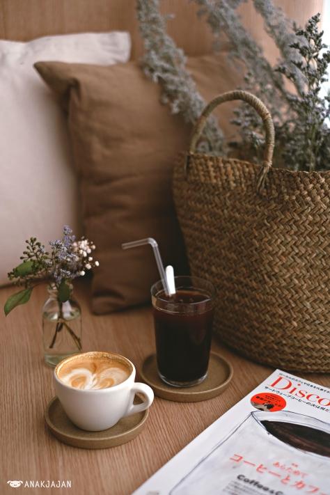 Cappuccino IDR 37k, Ice Americano IDR 27k