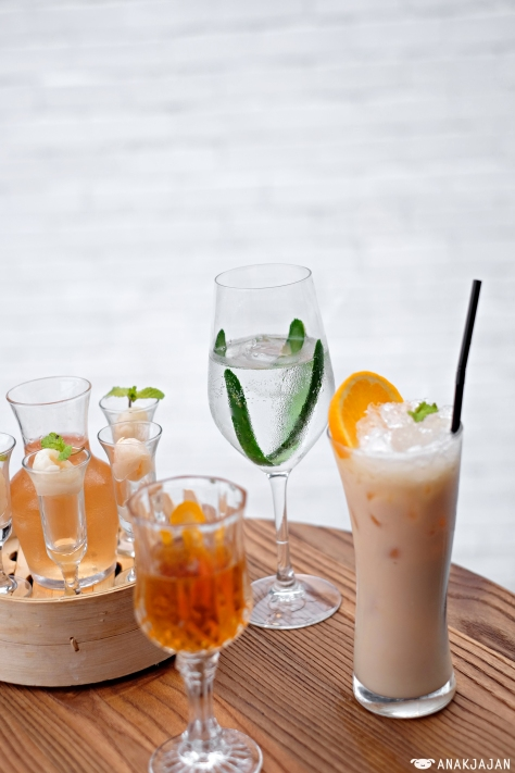 Day and Night IDR 130k, Godfather IDR 110k, Gin and Tonic, Biela Sunset Mocktail