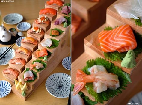 Hiro Salmon Sushi IDR 90k, Hiro Ultimate Sashimi IDR 300k