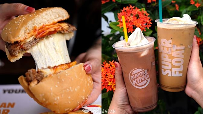 [NEW] BURGER KING INDONESIA – Super Float, Mozzarella Cheeseburger,  Flame-Grilled Cheeseburger