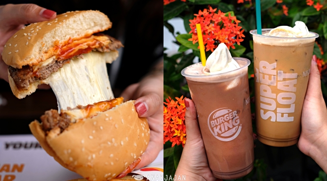 [NEW] BURGER KING INDONESIA – Super Float, Mozzarella Cheeseburger,  Flame-Grilled Cheeseburger