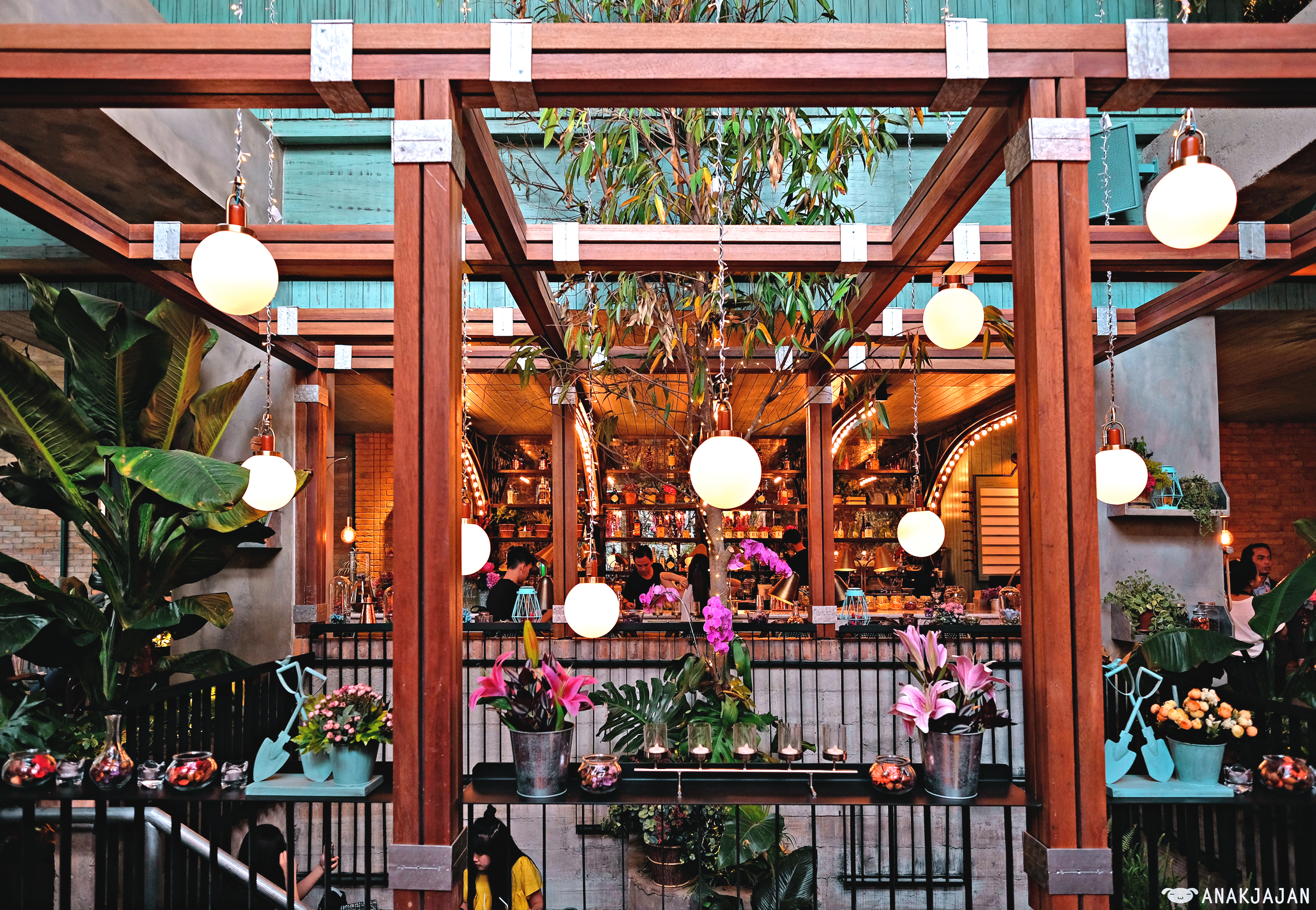 As The Name Suggests, You Can Expect To Find Lush Garden Ornaments In This  Restaurant. Compared To The Flowery Onni House Cafe We Recently Visited, ...