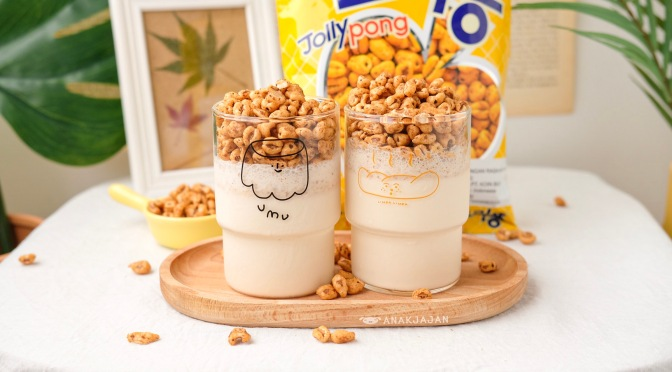 [Recipe] KOREAN SNACK JOLLY PONG LATTE/ PONG CRUSH